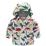 Tensay Kleinkind Kinder Baby Mädchen Jungen Dinosaurier Print Kapuze Reißverschluss Wind Mantel Outwear Kleidung