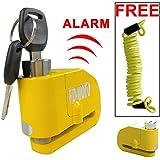 FD-MOTO LK603 Alarm Motorcycle Motorbike Lock Disc lock Strong Safe Secure + Free Reminder Cable
