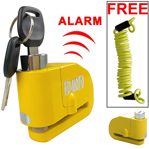 FD-MOTO LK603 Disco de alarma de bloqueo de moto Bicicleta de bloqueo de disco de bicicleta ALARMA + Free Reminder Cable