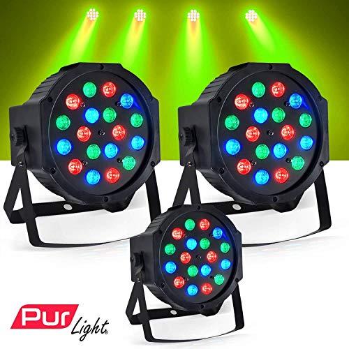 Spiele von Licht 3Rampenlicht DJ Light durch LED 18x 1W RGB-PUR Light Montana -