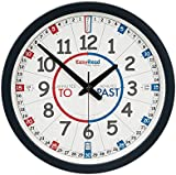 EasyRead Time Teacher Children's Classroom Wall Clock with simple 3-Step Teaching System, 35 cm dia, learn to tell the time , ages 5-12