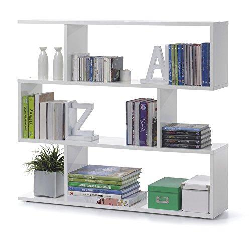 Links-Kafka-a5-Libreria-Melamina-Bianco-lucido-110-x-97-x-25-cm