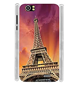 Eiffel Tower on Sky Soft Silicon Rubberized Back Case Cover for Lava Iris X5 :: Lava Iris X5 4G