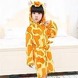 Yannay Bequeme Hochzeiten Badezimmer Leinen Kinder Kid Boy Girl Flanell Kapuzen Bademantel Badetuch Giraffe Muster Bademantel Nachthemd Nachtwäsche