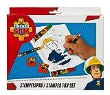 Undercover FSBT3971 - Stempelspass Feuerwehrmann Sam, 27-teilig, rot