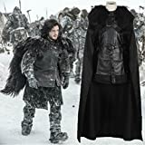 Vivian Halloween Adult A Song of Ice and Fire Game of Thrones Cosplay Cloak Jon Snow Costume Cape Only (envoyez-nous votre taille) M: 165-170CM