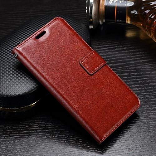 D-Kandy Vintage Leather Flip Wallet Case Stand with Card Holder Magnetic Cover for Samsung Galaxy S3 & S3 Neo -Brown