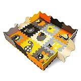 XMTMMD Baby Puzzle matte Play Bereich Weich ineinandergreifende SCHAUMSTOFF Spielmatte Set Schutz Bodenbelag Fliesen für Kinder AM11B