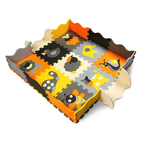 Spiel-platz-matte (XMTMMD Baby Puzzle matte Play Bereich Weich ineinandergreifende SCHAUMSTOFF Spielmatte Set Schutz Bodenbelag Fliesen für Kinder AM11B)