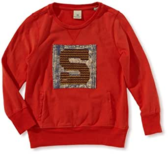 Scotch Shrunk Jungen Pullover 13440650515 peached cotton logo tee  Gr. 164  (14), Rot (45 - spicy pepper )