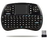 QQPOW Mini 2.4Ghzs Deutsch Tastatur für Google Android Tv-Kasten, PC, Auflage, Xbox 360, Ps3, Htpc, Iptv drahtlose Touchpad-Tastatur mit Mau