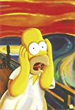 The Simpsons Poster Homer Simpson - The Scream, Der Schrei (61 x 91 cm)