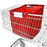 achilles Easy-Cooler, Sac de shopping pliable avec insert cool, Sac à provisions adapté à tous les paniers d'achat, rouge, 54x35x39 cm