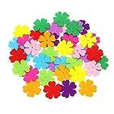 Yuccer 160 Stück Filz Blumen, Stoff Blumen Basteln für Kinder DIY Handwerk Dekoration, Verschiedene Farben (glückliche Blume)