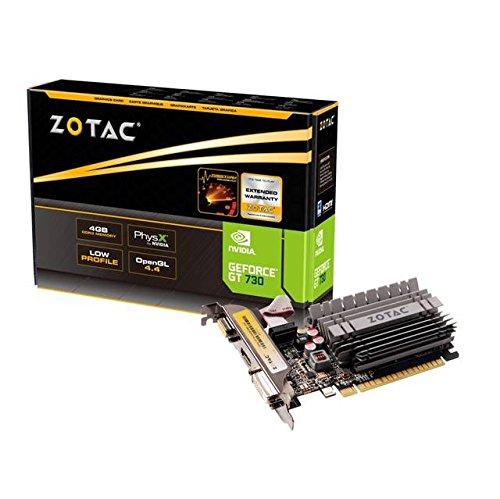ZOTAC ZT-71115-20L ZOTAC NVIDIA GeForce GT 730 4GB DDR3 VGA DVI HDMI Low Profile PC