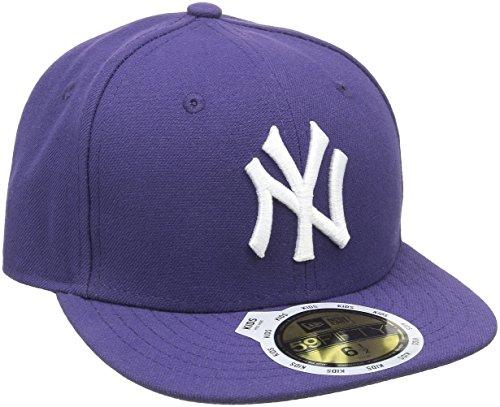 New Era Kinder Baseball Mütze Mlb Basic NY Yankees 59Fifty Fitted, Violett...