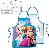 Disney Frozen Küchenset Die Eiskönigin Anne & Elsa Chefkoch-Set Kochschürze und Kochmütze 2-teilig
