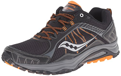 Saucony Men's Grid Excursion TR9 Running Shoe Black / Orange