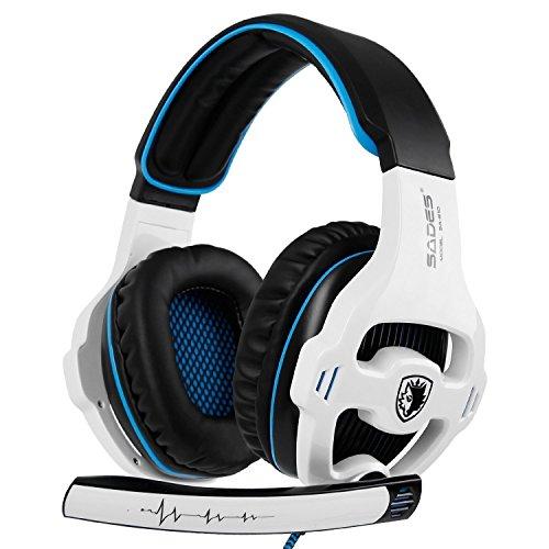 Auriculares SADES SA810 Xbox one PS4 Stereo Gaming con micrófono y cancelación de ruido y control de volumen para la nueva Xbox One/PC/Mac/PS4/Table/Phone