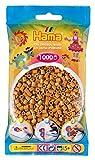 Hama 207-21 - Bügelperlen im Beutel, ca. 1000 Stück, hellbraun