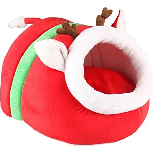 Animally® Hundekorb Weihnachten Katzen Höhle Hundehaus Christmas Edition (M)