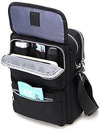 Crossbody Bag for Women, Multi-Pocketed Nylon Shoulder Bag Purse Travel Passport Bag Messenger Bag