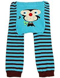 """Dotty Fish - Jambières en laine """"L'hibou blue Ollie"""" pour bébés et jeunes enfants"""