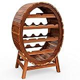 Weinregal für 12 Flaschen aus Holz im stilvollem Design