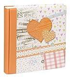 Happy News Fotoalbum in 30x30 cm 100 weiße Seiten Jumbo Buch Foto Album: Farbe: Orange