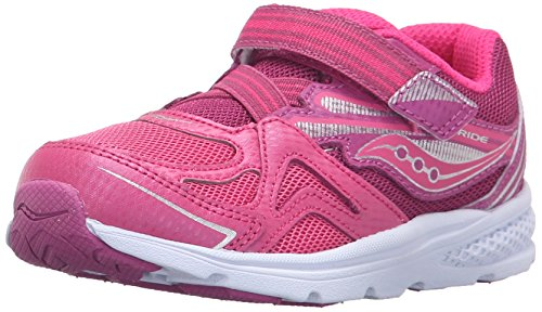 Saucony Girls' Baby Ride Sneaker (Toddler/Little Kid), Pink/Berry, 5.5 W US Toddler (Kleinkind -, Schuhe Saucony)
