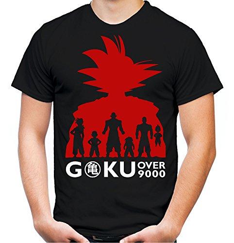 Son Goku T-Shirt | Dragonball Z | MMA | Manga | Anime | Saiyajin | Super | Saiyan | Sons of | Männer | Herren | Kult | M6 Schwarz