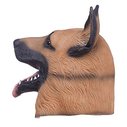 Tier Erwachsene Niedlichen Kostüm Für - WSJPD Hundekopf Latex Maske Vollgesichtsmaske für Erwachsene Atmungsaktive Halloween Maskerade Party Cosplay Kostüm Niedlichen Tier Maske