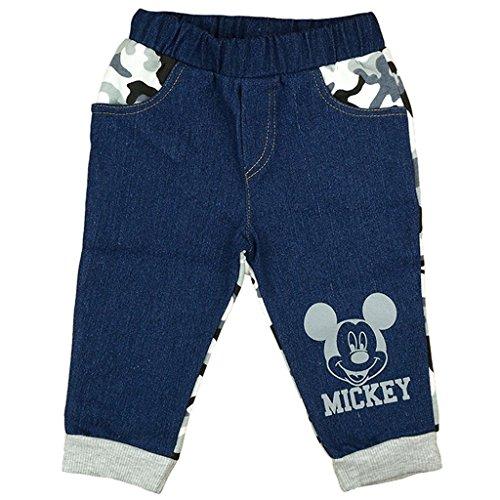 Jungen JEANS-HOSE / BABY-HOSE Mickey Mouse mit Camouflage und Motiv, GRÖSSE 86, 92, 98, 104, 110, 116, SPIEL-HOSE mit abgesetzten Taschen, als Freizeit-Hose oder Jogging-Hose Size 44