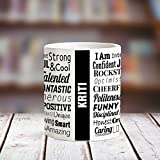 Huppme KRITI Good Personality White Ceramic Coffee Name Mug