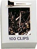 Fripac-Medis Stahl-Haarclips, einschenklig, kurz, Schachtel mit 100 Stück