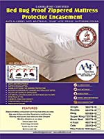AAF Bed Bug Proof Total Mattress Enclosure Encasement Protector Cover Anti Allergy Anti Dust Mite Anti Bacterial All Uk Sizes, Single Double King Super King Bunk Bed Small Double