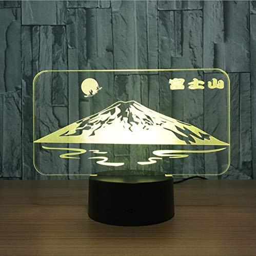 Djkaa Japanische Schnee Berg Fuji Form 3D Led Lampe Sun Bunte 3D NachtlichtSchreibtisch Tischlampe Usb Dekorative Freund Geschenk
