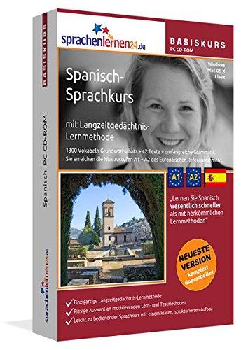 Spanisch-Basiskurs mit Langzeitgedächtnis-Lernmethode von Sprachenlernen24: Lernstufen A1 + A2....