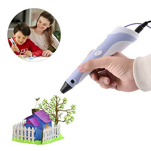 BANGBO 3D printing pen with LED display Compatible with ABS Filament PLA and the incredible gift for children(rosa)