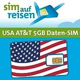 AT&T USA Prepaid Daten-Sim-Karte mit 5 GB aktiviert zum Wunschtermin durch sim-auf-reisen (Nano)