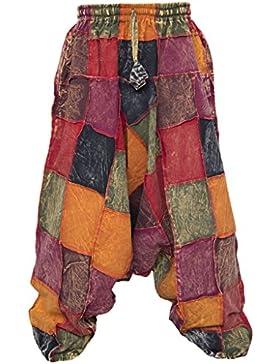 Little Kathmandu pantalones diseño holgado hippie de algodón para hombre Aladín