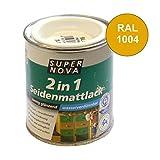 Acryl Seidenmattlack 125ml goldgelb RAL1004 samtig glänzend innen außen Holzlack