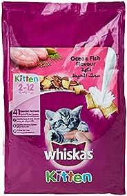 Whiskas Junior Ocean Fish Flavour, Dry Kitten Food, 2-12 months, 1.1Kg