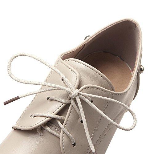 Correct Cuir Femme Voguezone009 Pointu Tire Talon Chaussures Unie fx0WWqdc