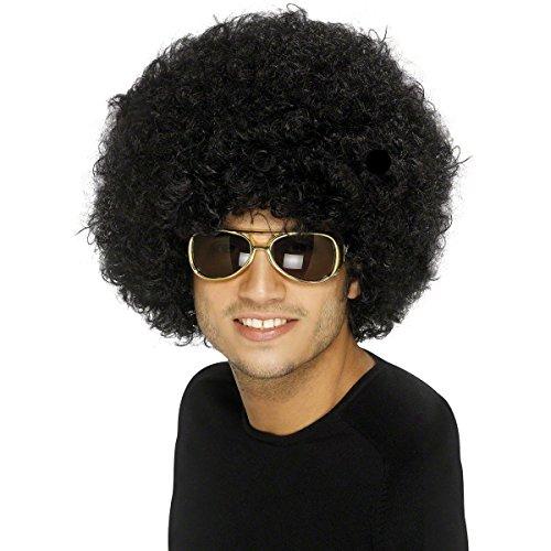Afroperücke Mega Rasta Afro Perücke für Party Karneval und als Kostüm - XXL - Schwarz Afro Perücke Kostüm