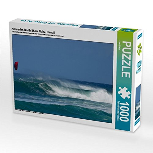 Kitesurfer, North Shore Oahu, Hawaii 1000 Teile Puzzle quer -