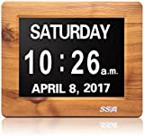 """SSA Dementia Day Clock,Memory Loss Digital Calendar Day Clock, with Extra Large Non-Abbreviated Day & Month. Perfect for Seniors Perfect Fathers Day Gifts 7"""""""