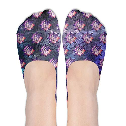 Doormat-bag Tiger Mask Galaxy Women's Performance Comfort Fit No-Show Socks. -
