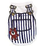 YWLINK Sommer Haustier TräGerkleid Anzug Karikatur Drucken Hunde T-Shirt HüNdchen Katze Weste Shirt(Dunkelblau,XL)