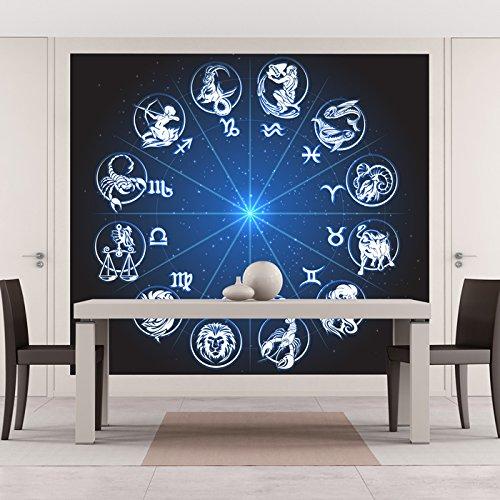 Tierkreiszeichen Wandbild Astrologie Foto-Tapete Schlafzimmer Haus Dekor Erhältlich in 8 Größen Riesig Digital